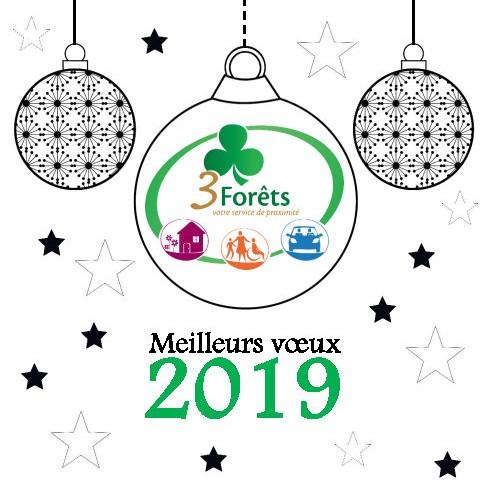 Carte de voeux 2019 - 3 Forêts